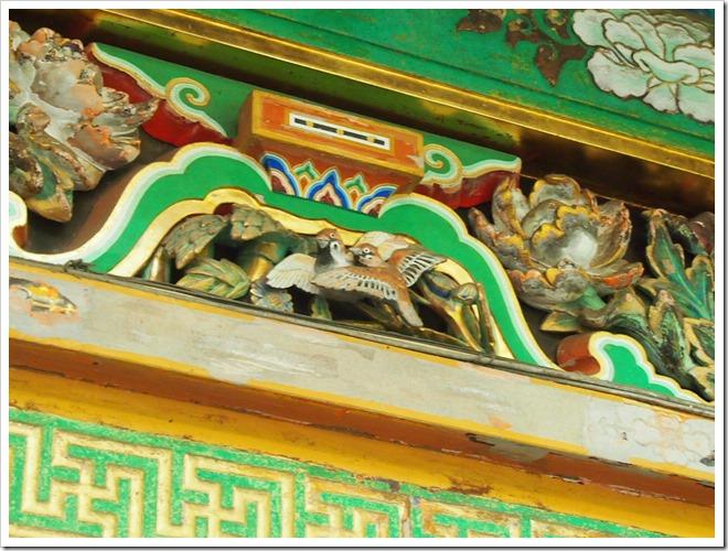 東照宮 雀の彫刻