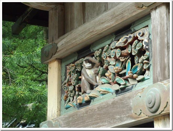 日光東照宮 猿の彫刻
