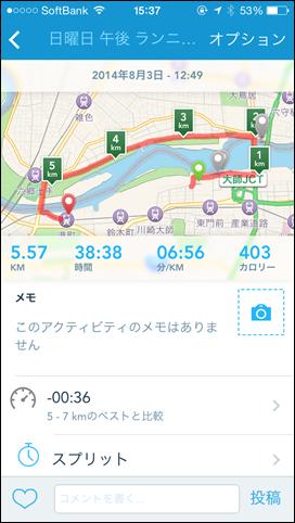 Runkeeper 8/3のログ