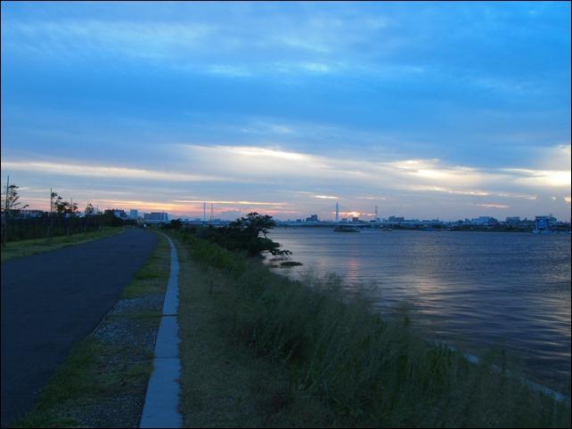 28mm撮影の夕日