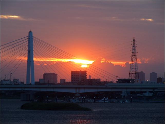 280mm撮影の夕日